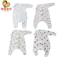 Cotton Baby Rompers Children Winter Clothes Sleeping Bag Toddler Boy Girls Romper Newborn Jumpsuit Long Sleeve 6 Layers Clothing 2017 newborn baby boy winter long sleeve cotton clothing toddler baby clothes romper warm cartoon jumpsuit for 0 12 months