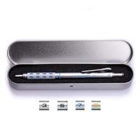 Pentel mechanische potloden pg1000 tekeningen ontwerp metalen automatische potloden met ijzeren doos gift set 1 set/partij