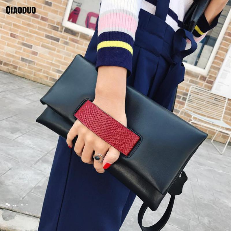Plain Women Bag Clutches Evening Party Bag Soft Genuine Leather Envelope Hand Bag European Fashion Designer Female Crossbody Bag grey soft plain pu crossbody bag