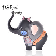 Baby Elephant Pins And Brooches For Women Enamel Lovely Animal Brooch Jewelry Trendy Brooch Pin For Girls Decoration Accessory