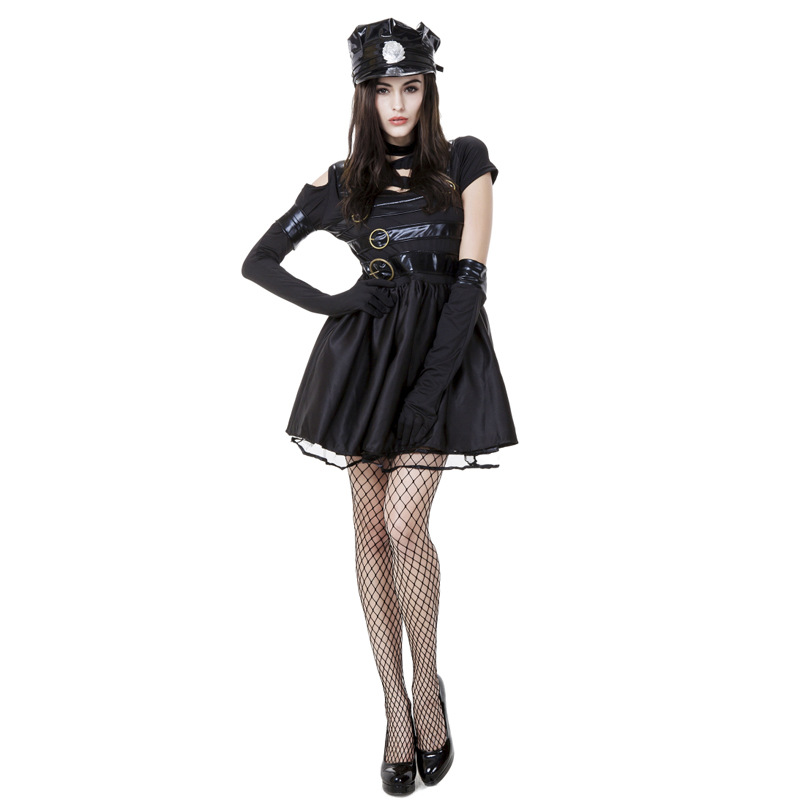 Movie Edward Scissorhands Costumes for Adult Women Halloween Masquerade Party Cosplay Female Fantasy Fairy Tale Mini Bown Dress