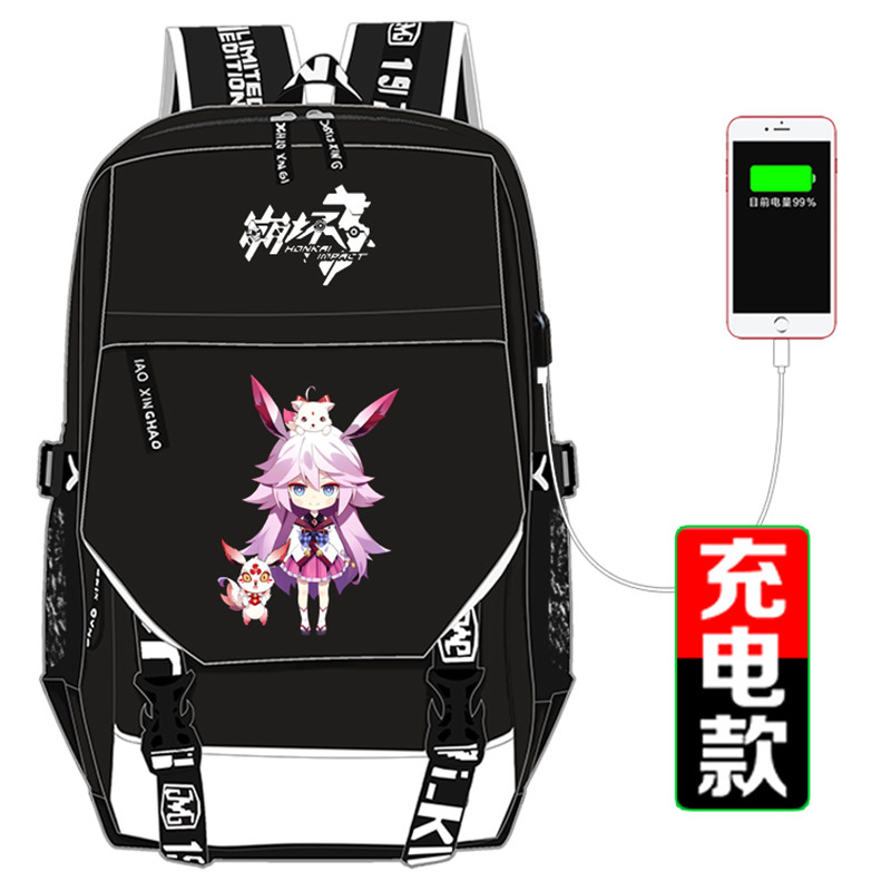 Backpacks Honkai Impact 3 Yae Sakura Cartoon Cosplay Backpack Women Men Rucksack Mochila Feminina Canvas School Bags Travel Shoulder Bag Online Shop