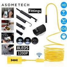HD 1200P эндоскоп Wifi камера водонепроницаемый жесткий кабель полужесткая трубка инспекция беспроводная видео Змея камера s для Android IOS PC