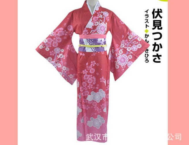 Eromanga Sensei Izumi Sagiri Women Kimono Cosplay Costume Japanese Full Set Yukata Dress