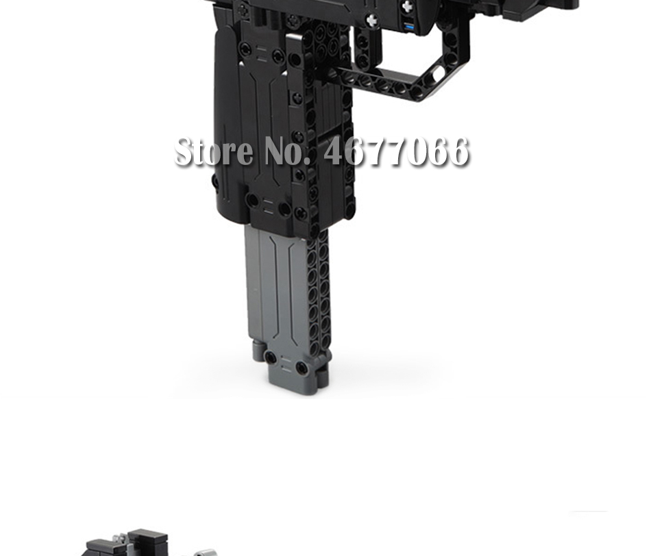 Legoed gun model building blocks p90 toy gun toy brick ak47 toy gun weapon legoed technic bricks lepin gun toys for boy 163