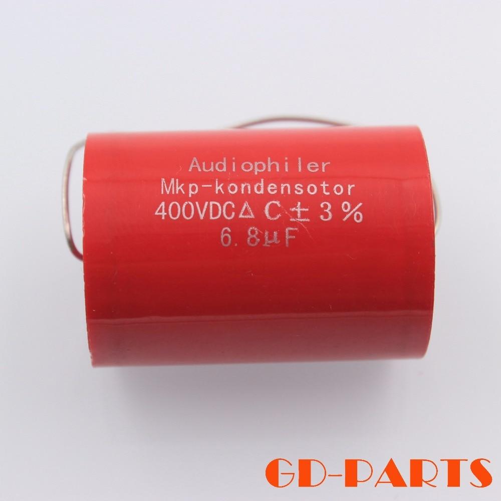 6.8uf 400VDC Audiophiler MKP Capacitor Audio Grade Tubular Polypropylene Capacitors for Hifi Speaker Crossover Guitar AMP DIY