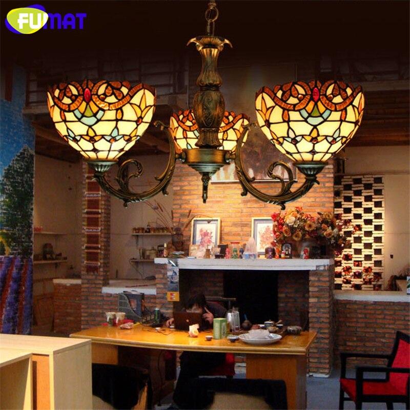 Фумат барокко Стекло лампа ретро витражи Стекло подвесной светильник для гостиной коридор света Спальня Vitrage мозаика Стекло лампа