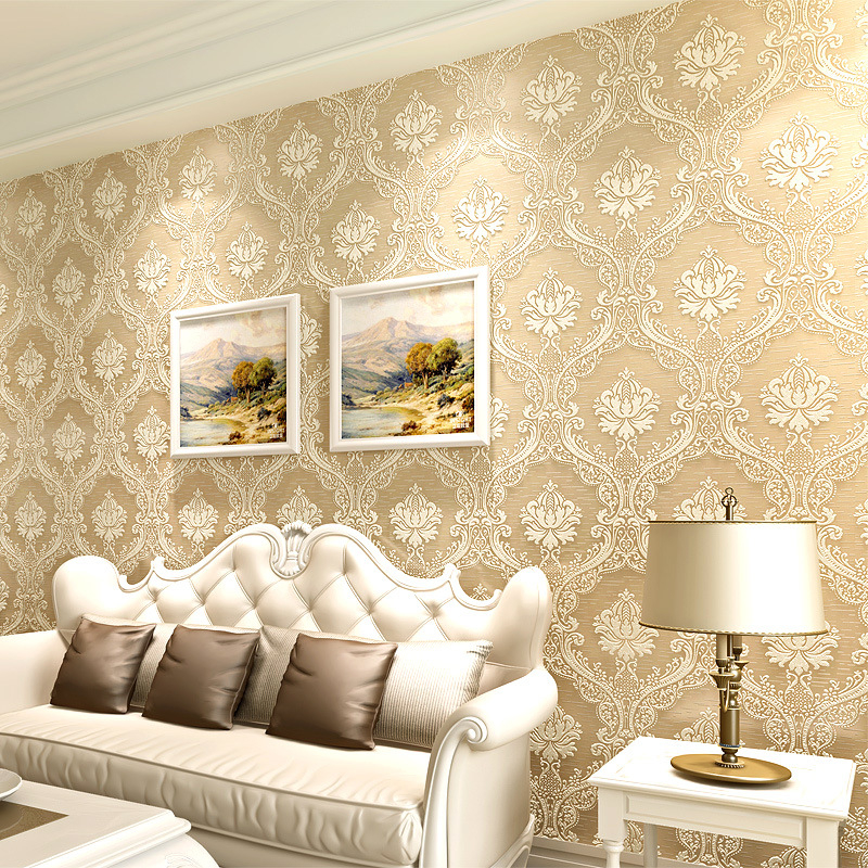 Beibehang European embossed stereo 3D Damascus 3D wallpaper warm bedroom living room TV wallpaper for walls 3 d papel de parede beibehang european luxury papel de parede 3d wall paper roll embossed flocking living room tv background wallpaper for walls 3 d
