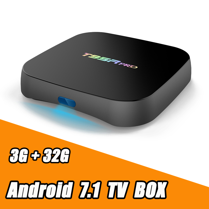 T95R PRO Amlogic S912 Octa Core Android 7.1 TV BOX 3GB RAM 32GB ROM 2.4G/5GHz Dual WiFi KODI Fully Load 4K H.265 Smart Tv new x98 pro android 6 0 tv box 3gb ram 16 rom amlogic s912 octa core smart tv box 2 4g 5 8g dual wifi bt4 0 uhd 4k media player