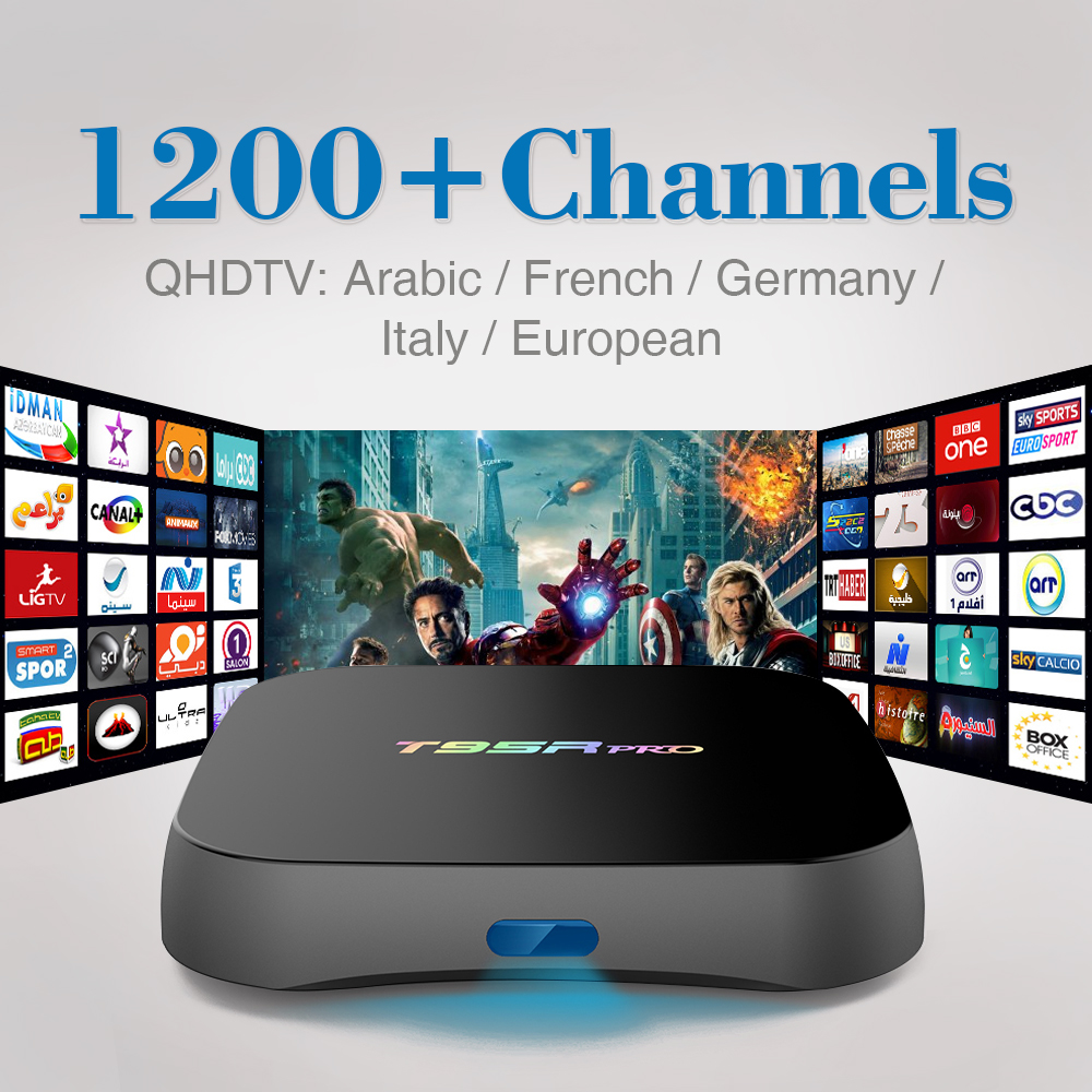 ФОТО 4K Android 6.0 TV Box S912 Octa Core Streaming Media Player with Free 1200 IPTV Subscription Europe Italy Arabic Turkey Spain