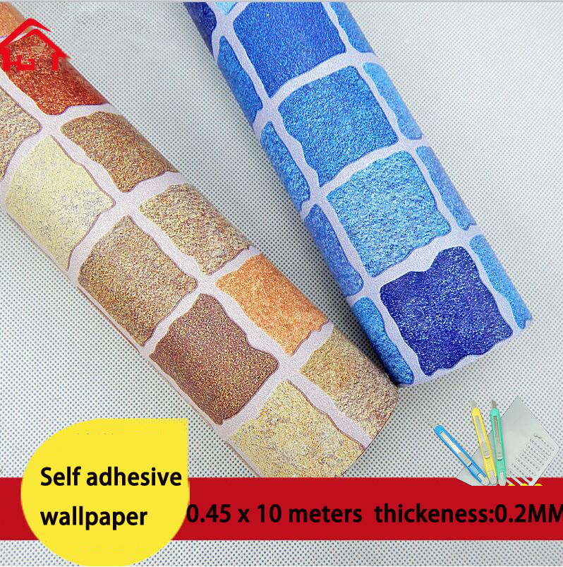 Wallpaper thickening bathroom 3d wallpaper mosaic for 3d wallpaper waterproof