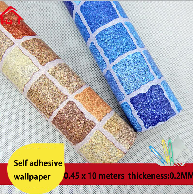 Wallpaper Thickening Bathroom Mosaic Waterproof Kitchen Washable
