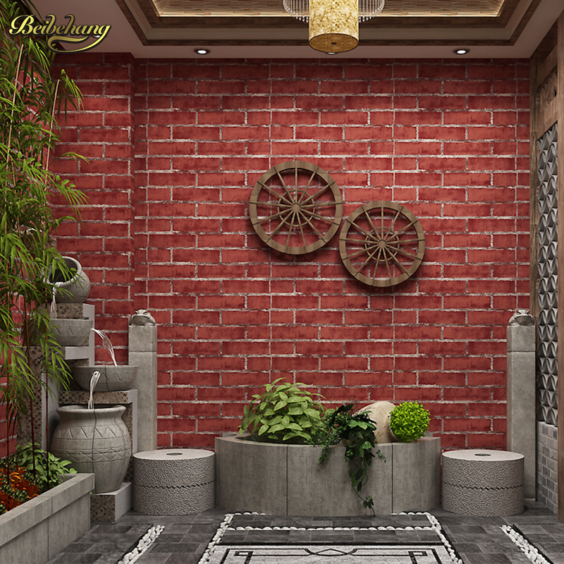 beibehang papel de parede 3D Chinese brick wallpaper brick wall paper for living room bedroom contact-paper contact paper roll 3d bookshelf wallpaper rolls for study room of american vintage chinese style background 3d wall paper papel de parede