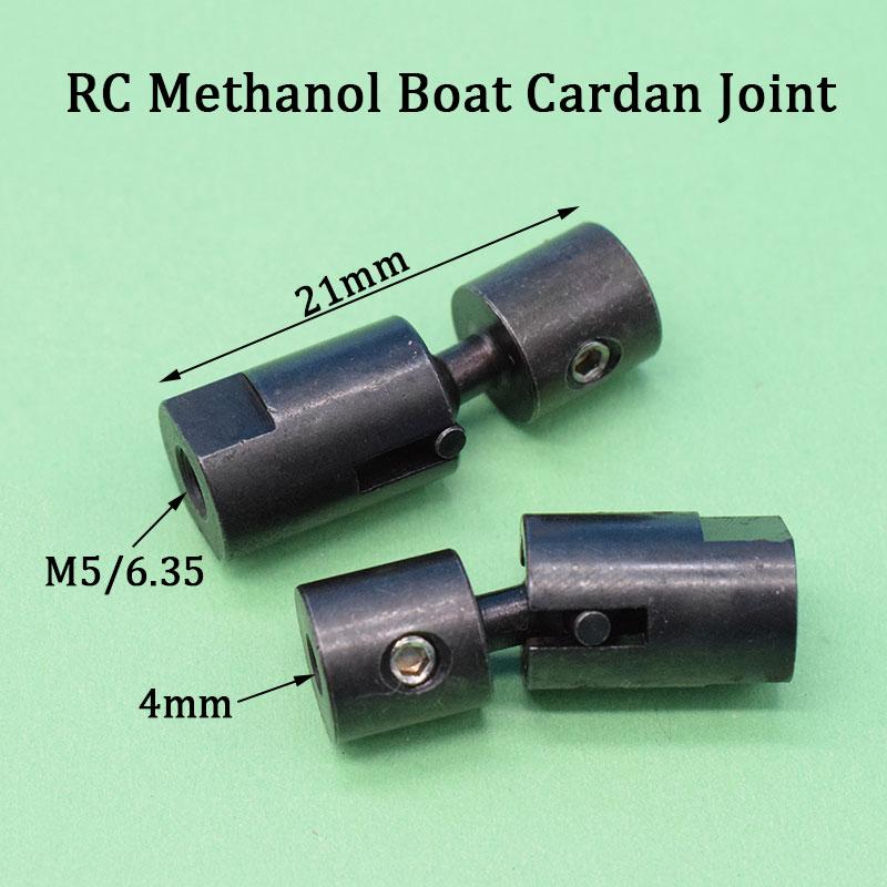 Barco Rc Cardan Conjunta M5 * 4 milímetros M6.35 * 4mm Junta Universal 4 milímetros Eixo Conector Universal para RC Barco Metanol Motor De Peças de Reposição
