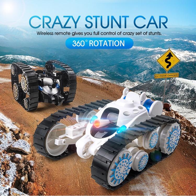Chiger culbuteur roues Flip cascadeur voiture modèle RC 20 min temps d'action télécommande réservoir bataille cascadeur voiture avec LED enfant jouet