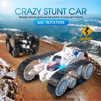 Chiger tumbling Wheels Flip Stunt Car Model RC 20min action time Remote Control Tank battle Stunt Car with LED Kid Toy