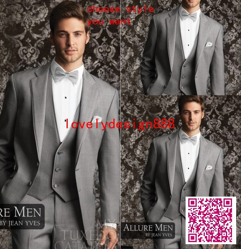 Free Shipping 4 Pieces Mens Fashion Bridegroon Business Dress Wedding Dress Suit For Men Latest Coat Pant Designs Groom Dresses