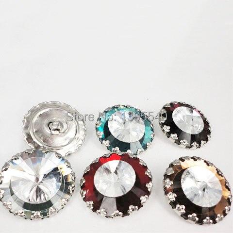 CoöPeratieve Nieuwe 30mm Clear & White Kristalglas Knop Voor Sofa Industrie Decoratie Ingediend Zachte Kristal Knop Ktv Muur Decoratieve Gesp Goederen Van Hoge Kwaliteit