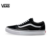 Original Vans Old Skool low-top CLASSICS Unisex MEN'S & WOMEN'S Skateboarding Shoes Sports canvas Shoes Sneakers free shipping