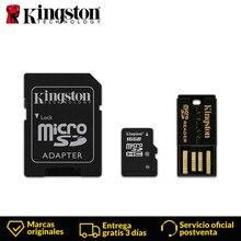 Kingston Технология MBLY10G2 Class 10 MicroSDHC 16 ГБ 10 МБ/с. FCR MRG2 микро CD USB 2,0 Мини флеш адаптер с фокусным расстоянием 25 мм SD кард ридер
