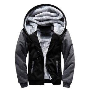 Image 4 - Мужская толстовка большого размера 7XL 8XL 9XL 10XL, осенне зимняя синяя, красная, панельная, черная, серая куртка на молнии с длинными рукавами