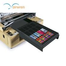 business name card printer pvc inkjet card UV flatbed printing machine with DX5 Printer Head