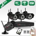 Plug And Play Inalámbrico de $ number CANALES NVR Kit CCTV 720 P HD Visión Nocturna Al Aire Libre WIFI H.264 Cámara de Vídeo Doméstico Sistema de Vigilancia de seguridad