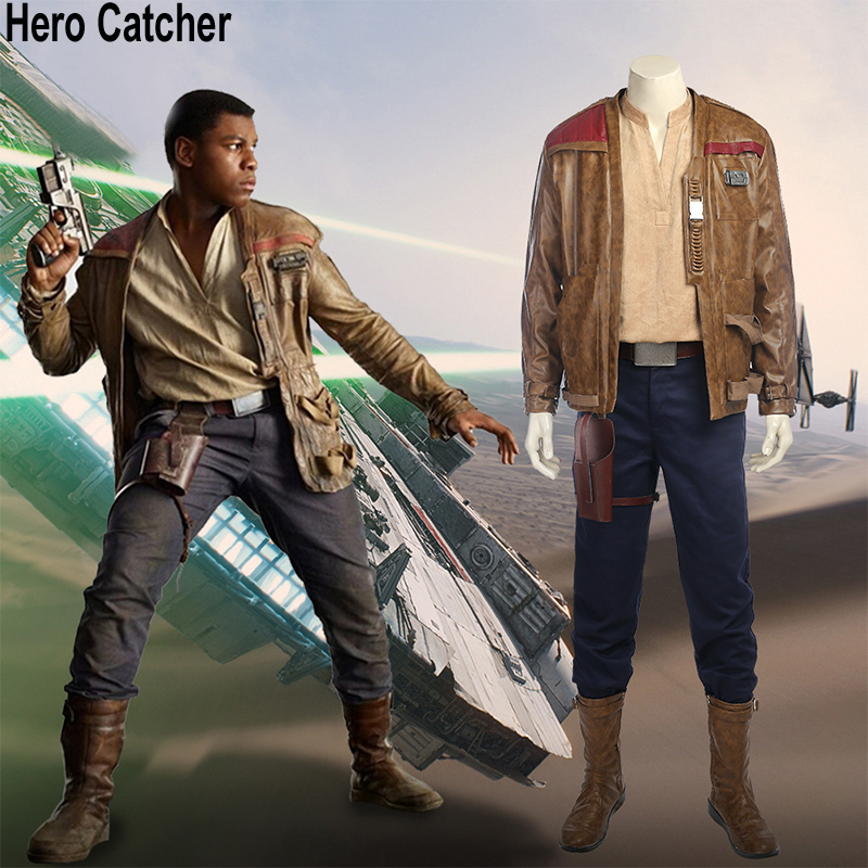 Hero Catcher 4 Top Quality Finn Cosplay Costume Star Wars Episode VIII: The Last Jedi Cosplay Star Wars 8 Cosplay Costume Finn