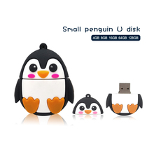 Memory stick USB Flash Drive 128GB penguin owl fox Pendrive 4g 8g 16g U disk 32gb 64gb