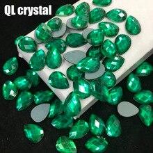 QL crystal 13x18mm Crystal popular DIY Clothes garments shose bags glue on flatbacks glass rhinestones