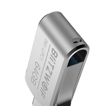 BlitzWolf BW-UPC1 2-in-1 Type-C USB 3.0 Aluminium Alloy 16GB 32GB 64GB OTG USB Flash Drive External Storage 1