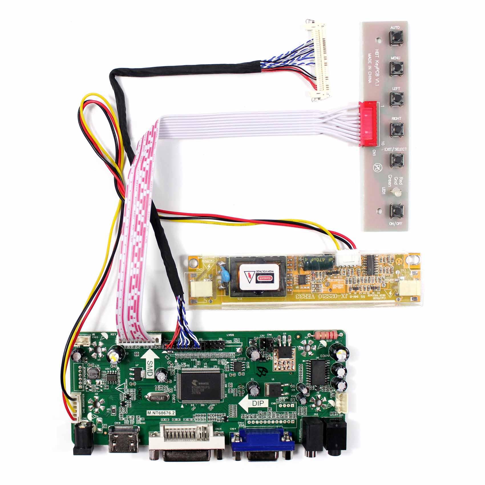 Kit for LP171WP4 LCD Screen Controller Board TL A5 HDMI+DVI+VGA