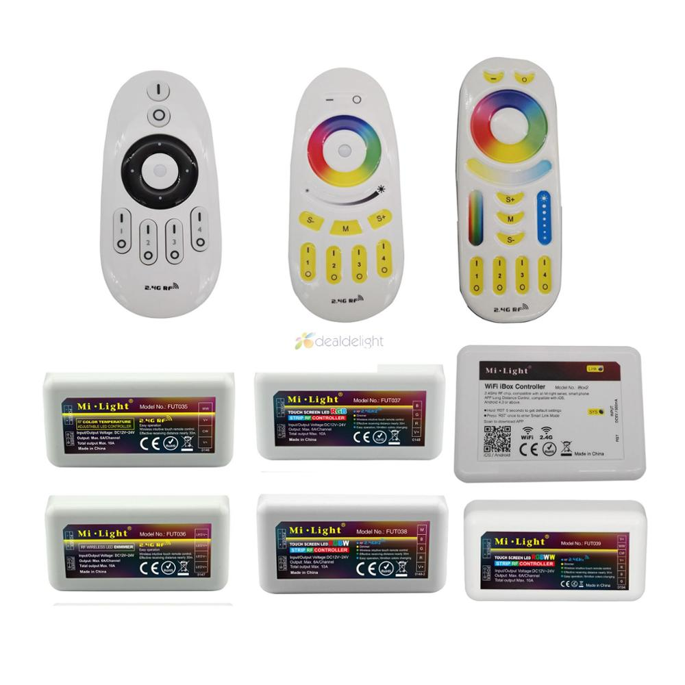 Miboxer Smart Wireless Controller 2.4G RF Remote Control / <font><b>WiFi</b></font> APP Control For RGB CCT <font><b>RGBW</b></font> Single Color <font><b>LED</b></font> Strip image