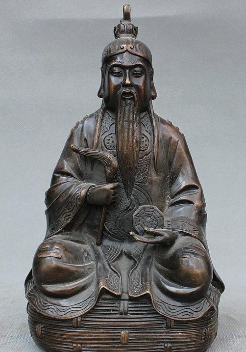 Chinese Bronze Copper the earliest [first] ancestor Taoist priest Taoist Statue