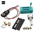Nova Placa de Circuito Eletrônico kit M328 12864 LCD Transistor Tester Diode Triode Capacitância DIY PARA LCR ESR Medidor HOT DC5.5-12V