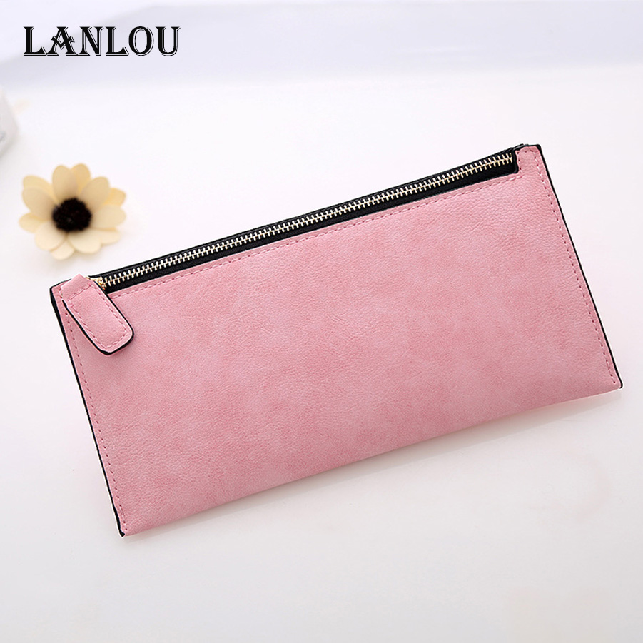 LANLOU wallet women leather wallets New