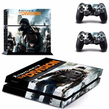 Vinyl Decal PS4 Skin Tom clancy's the division Sticker For PS4 Playstation 4 Console + Controllers