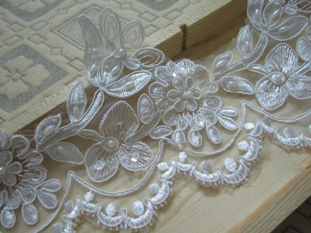Lace Wedding Dress Accessories : Aliexpress buy yard cm pearl beaded lace trim