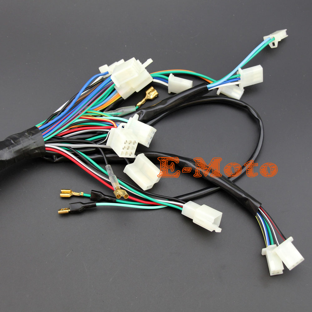 Electric Start Wire Loom Wiring Harness 200cc 250cc 300cc ATV QUAD ...