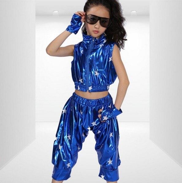 Desgaste del funcionamiento de hip hop niño moderno traje de la danza jazz  danza trajes de rendimiento en Salón de baile de La novedad y de uso  especial en ... 53150bcb2c1