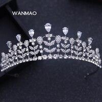Popular luxo grande coroa de noiva imitação de pérolas casamento rainha princesa casamento coroa de cristal acessórios de Vestuário jóias HA0070