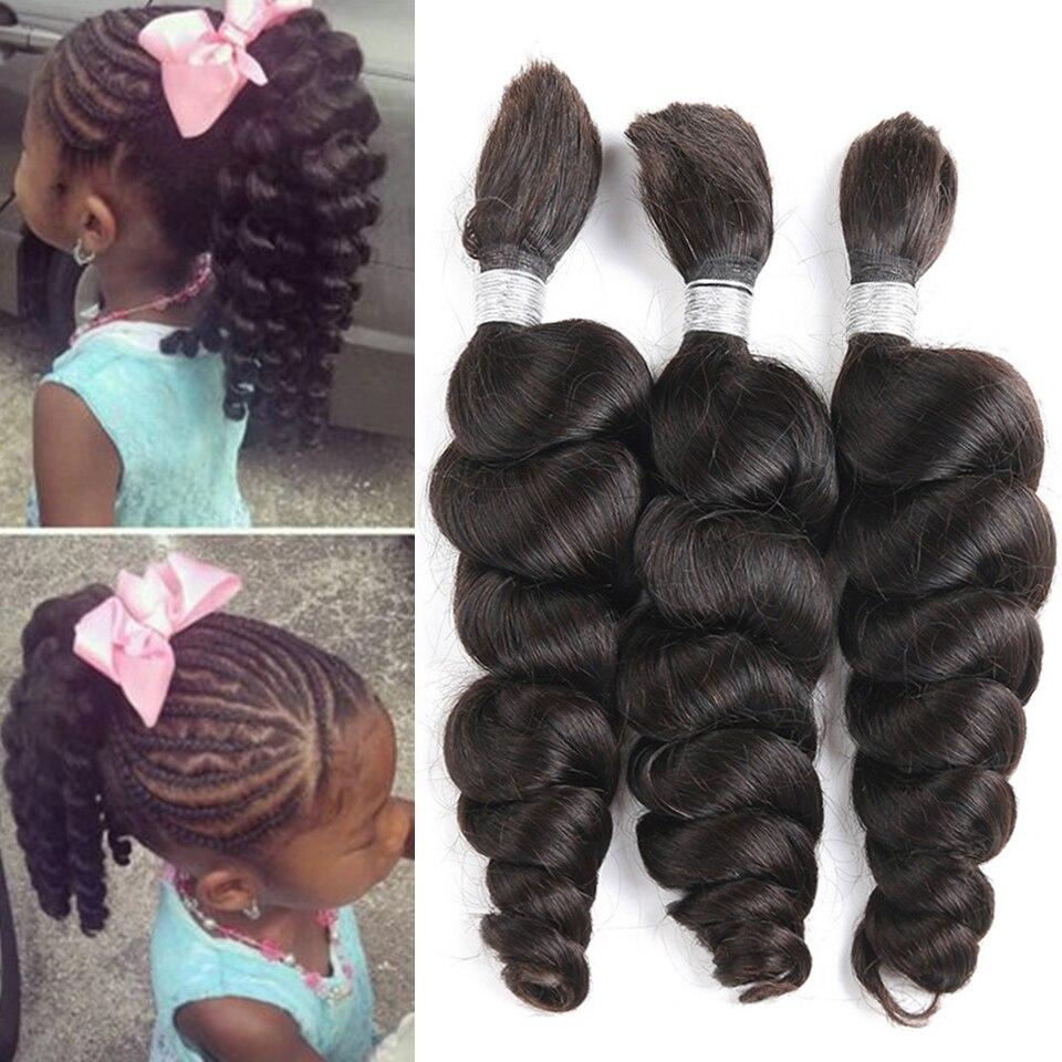 Joedir Brazilian LOOSE Wave Bulk Hair Bundles 28 30 Inch Human Hair Weave Bundles Wet And Weave Human Bulk Hair For Braiding