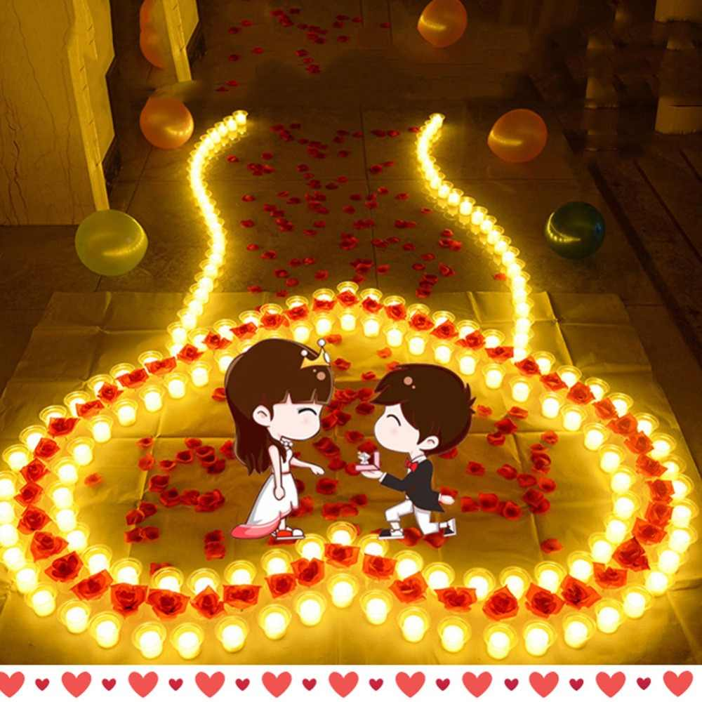 10PCS Heart-Shaped Jelly Candles Wedding Valentine Day Romantic Decoration Smokeless Eco-friendly Heart Candles Home Decoration