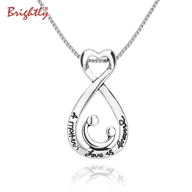 Brightly Love Mother's Gift Pendant Necklace Lucky Charm Chains Necklace for Women Gifts Fashion Jewelry Drop Shipping