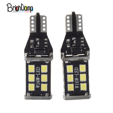 2PCS T15 / W16W Car Reversing Light LED Tail Brake 12V-24V 320 Degree Signal