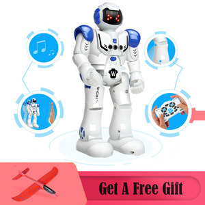 Image 1 - 2019 Newest Robot USB Charging Dancing Gesture Action Figure Toy Robot Control RC Robot Toy for Boys Children Birthday Gift