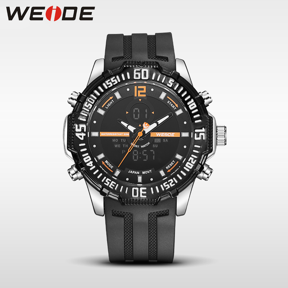 Weide new genuine watch luxury brand quartz sport watches analog men alarm clock relogio masculino water resistant horloge army weide new men quartz casual watch army military sports watch waterproof back light men watches alarm clock multiple time zone