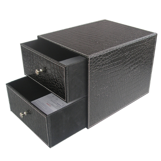 aliexpress buy 2 drawer layer leather office