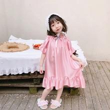 Летняя детская шелковая качественная Пижама-комбинезон для девочек, испанская одежда для сна Домашняя одежда, Dress2-8years принцессы, искусственный шелк