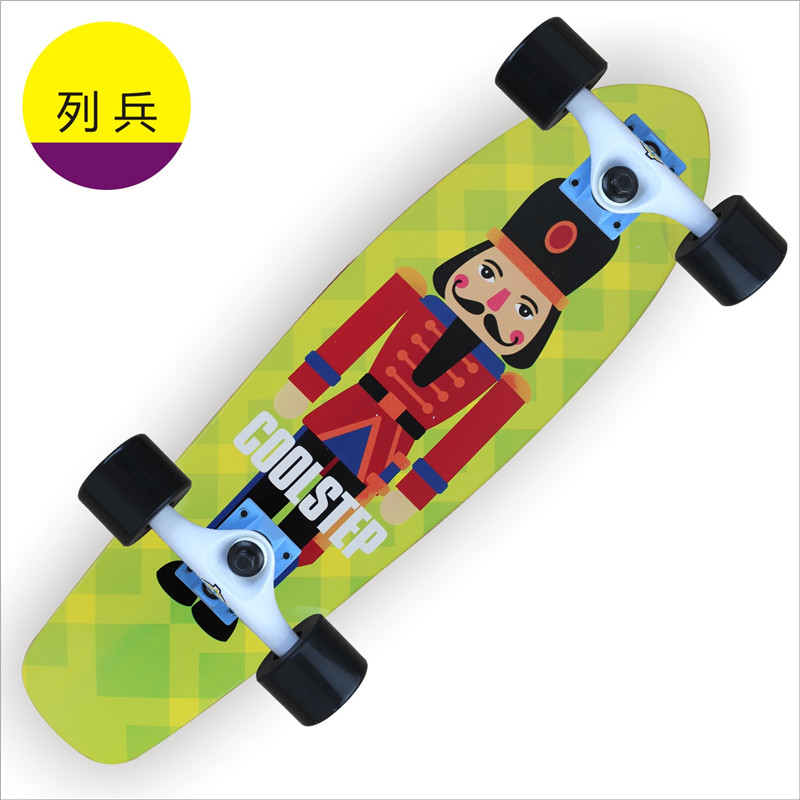 Professional Skate Maple Skateboard Long Board Longboard Slide Big Fish Plate Four Wheel Scooter Road Plate Deck Cruiser 70*19cm